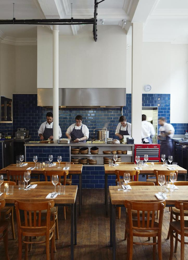 This new bar-restaurant in East London's renovated Shoreditch Town Hall features chef Isaac McHale's take on British seasonal