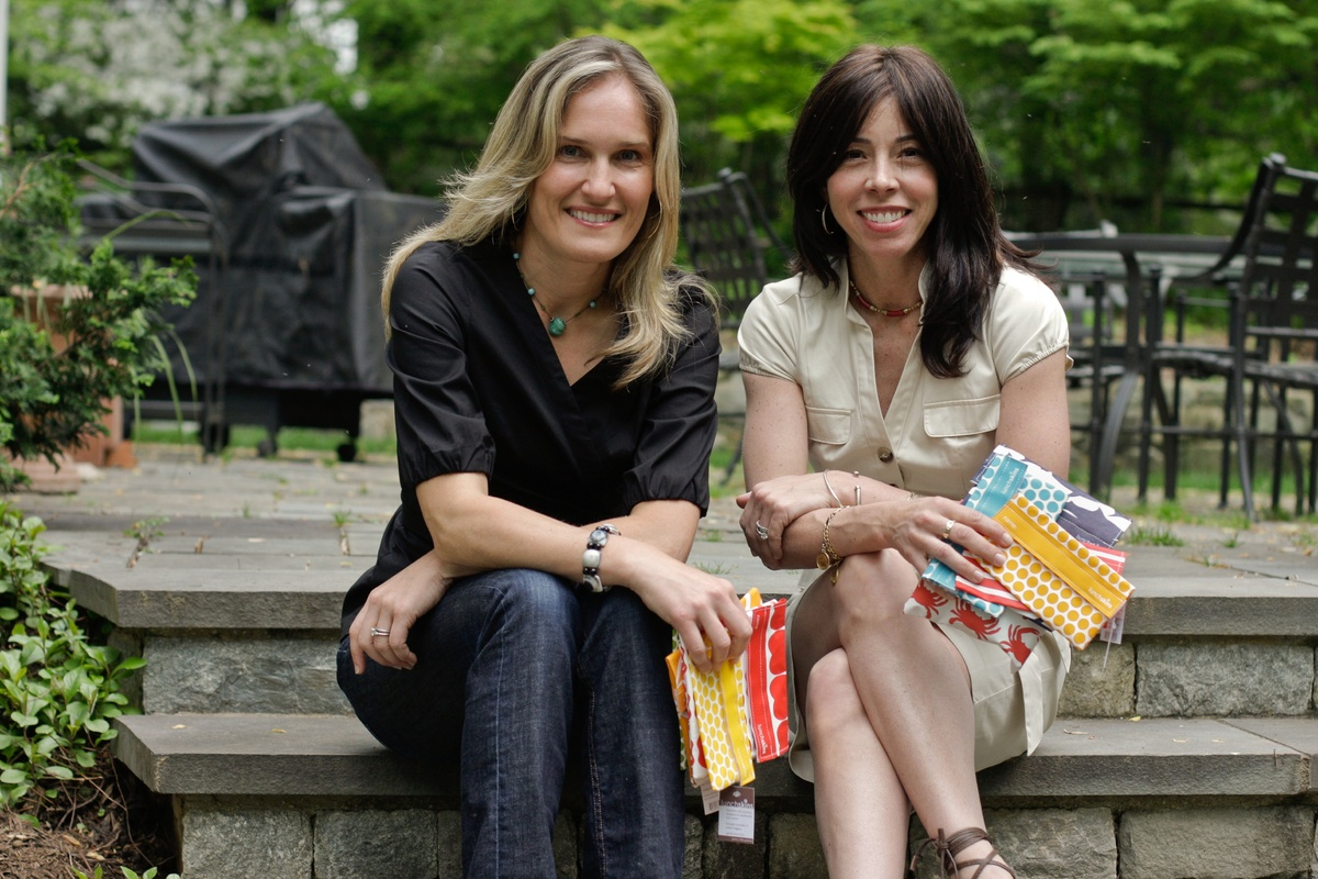 Since founding their company in 2008, these two moms have sold more than 1 million Lunchskins, a dishwasher-safe reusable san