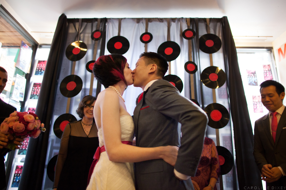 For couple Dani Deahl and Fei Tang's May 5 wedding, family members walked in to an orchestral version of Swedish House Mafia'
