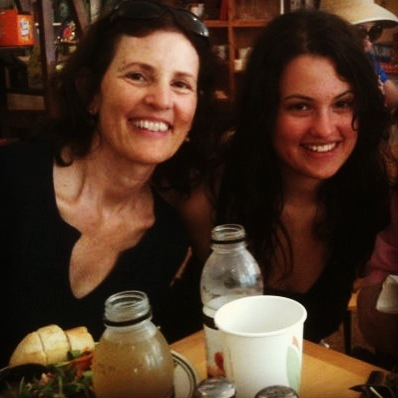 """""""My mom and I de-stress by <a href=""""http://www.huffingtonpost.com/meredith-melnick/mothers-day-activity_b_1453712.html"""">worki"""