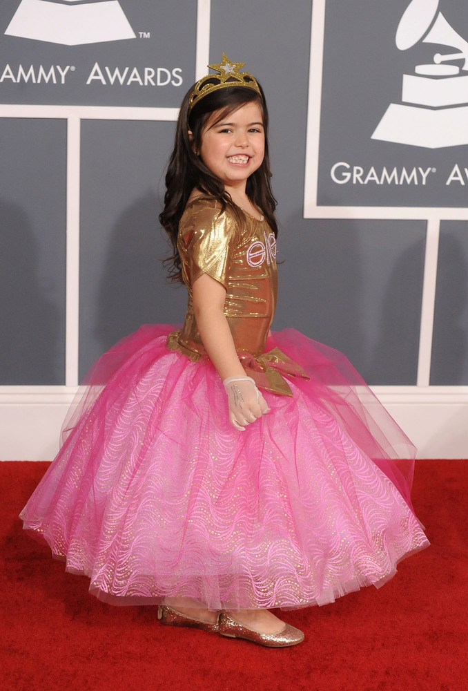Pictured: Sophia Grace arrives at The 54th Annual GRAMMY Awards at Staples Center on February 12, 2012 in Los Angeles, Califo