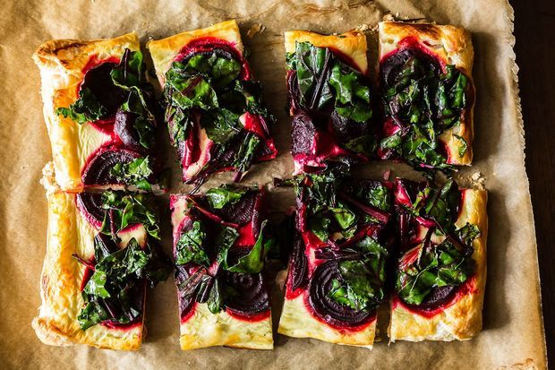 "<strong>Get the <a href=""http://food52.com/recipes/21136-rustic-beet-tart-and-wilted-greens"" target=""_blank"">Rustic Beet Tart"