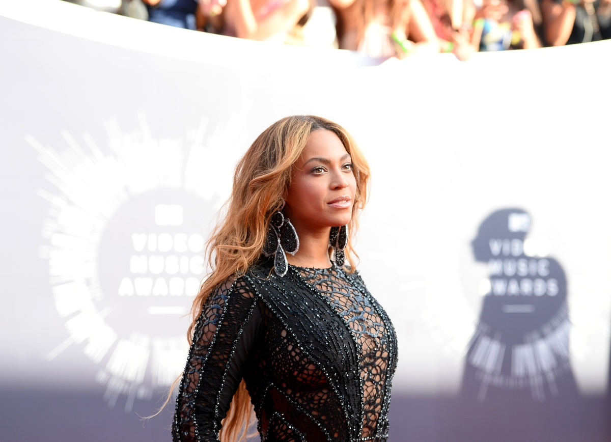 Beyonce arrives at the MTV Video Music Awards at The Forum on Sunday, Aug. 24, 2014, in Inglewood, Calif. (Photo by Jordan St