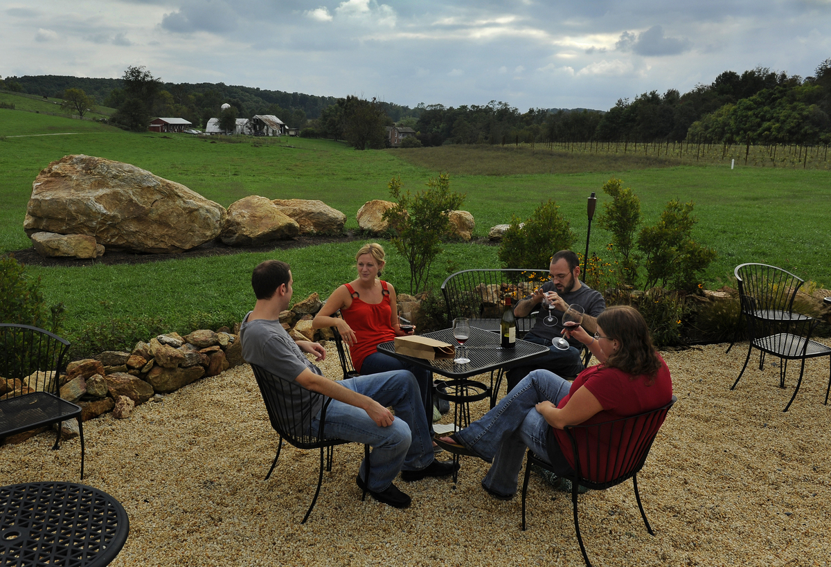"Located in the rolling hills of Mount Airy, <a href=""http://www.blackankle.com/"" target=""_blank"">Black Ankle Vineyards</a> ha"