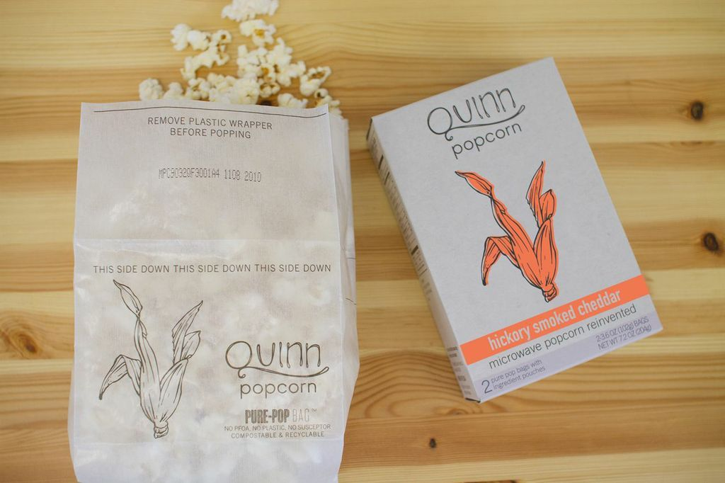 The first sign that Quinn Popcorn is not your average microwavable snack-in-a-bag is the cool flavors (hello, Parmesan & Rose