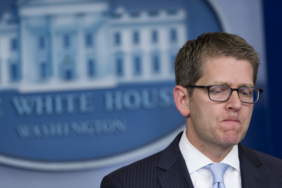 White House Press Secretary Jay Carney speaks during the daily press briefing in the Brady Press Briefing Room at the White H
