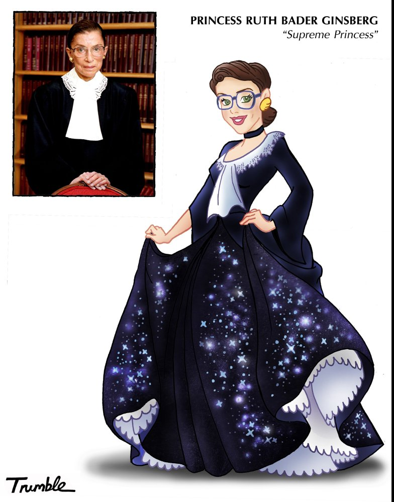 Princess Ruth Bader Ginsberg! She sparkles even under oath!