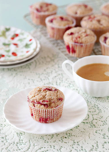 "<strong>Get the <a href=""http://www.annies-eats.com/2013/04/25/roasted-strawberry-muffins/"" target=""_blank"">Roasted Strawberr"