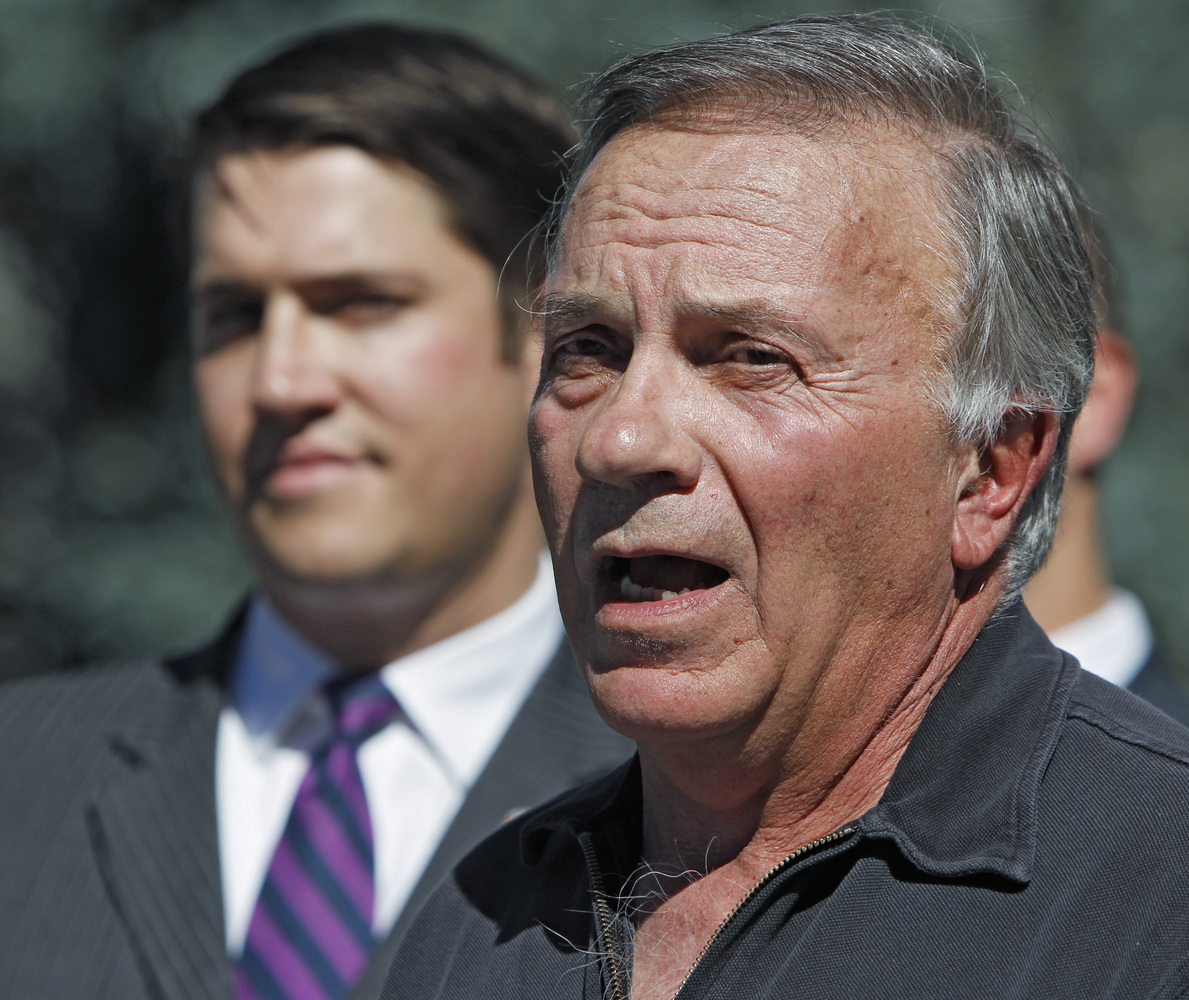Former Republican U.S. Rep. Tom Tancredo speaks out in favor supporting Amendment 64 to legalize marijuana in Colorado during