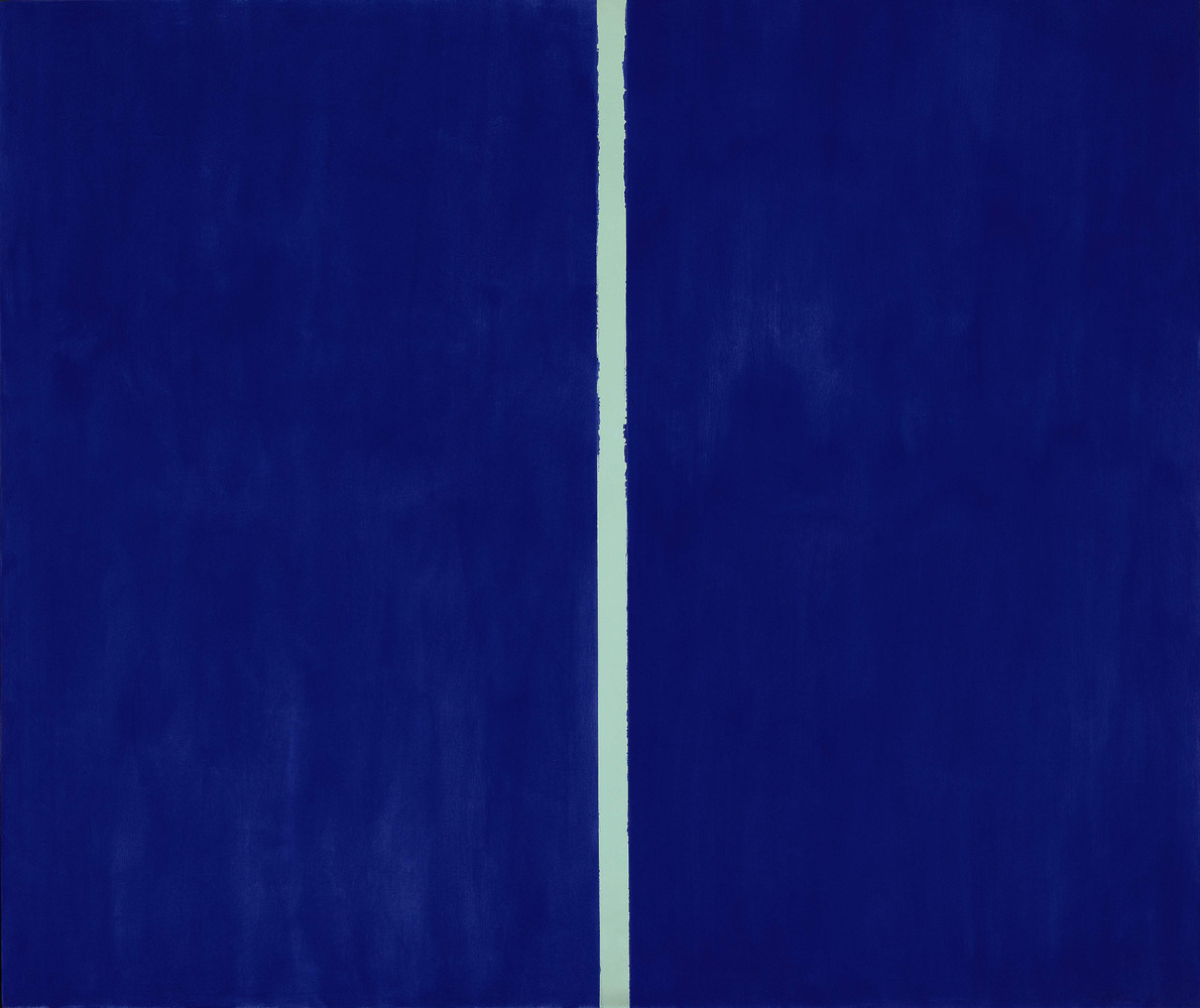 "ARTIST: Barnett Newman (1905-1970) PRICE: $43,845,000 ARTWORK: A 1953 ""zip,"" a named coined by Newman that refers to the line"