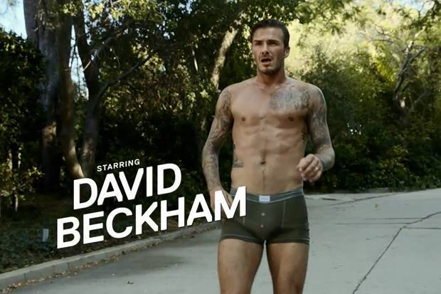 David Beckham H&M underwear advert
