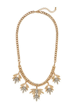 By their very nature, oversize necklaces catch attention. They're the fail-safe item that can keep party small talk going eve