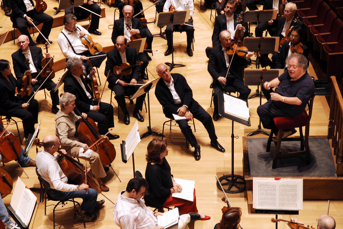 Us conductor James Levine and the Boston Symphony Orchestra perform Hector Berlioz's 'Damnation of Faust', 04 September 2007