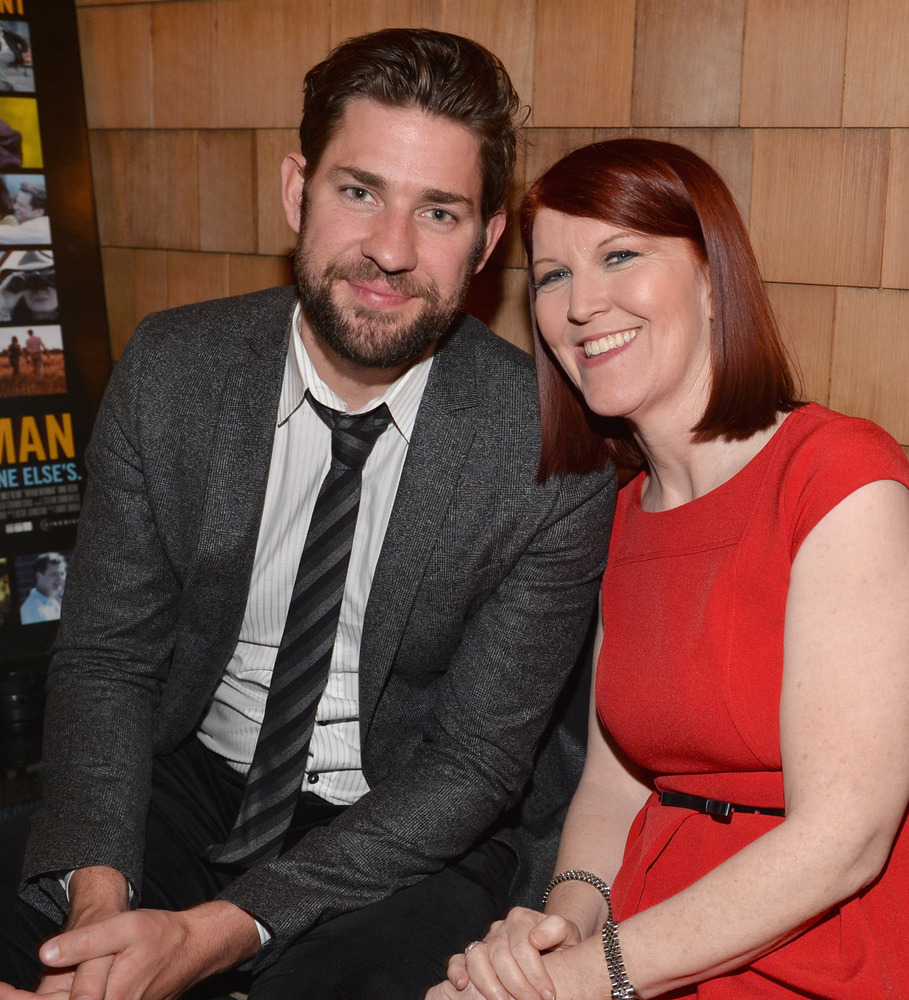 HOLLYWOOD, CA - APRIL 18:  Actors John Krasinski and Kate Flannery attend the after party for the premiere of Cinedigm's 'Art