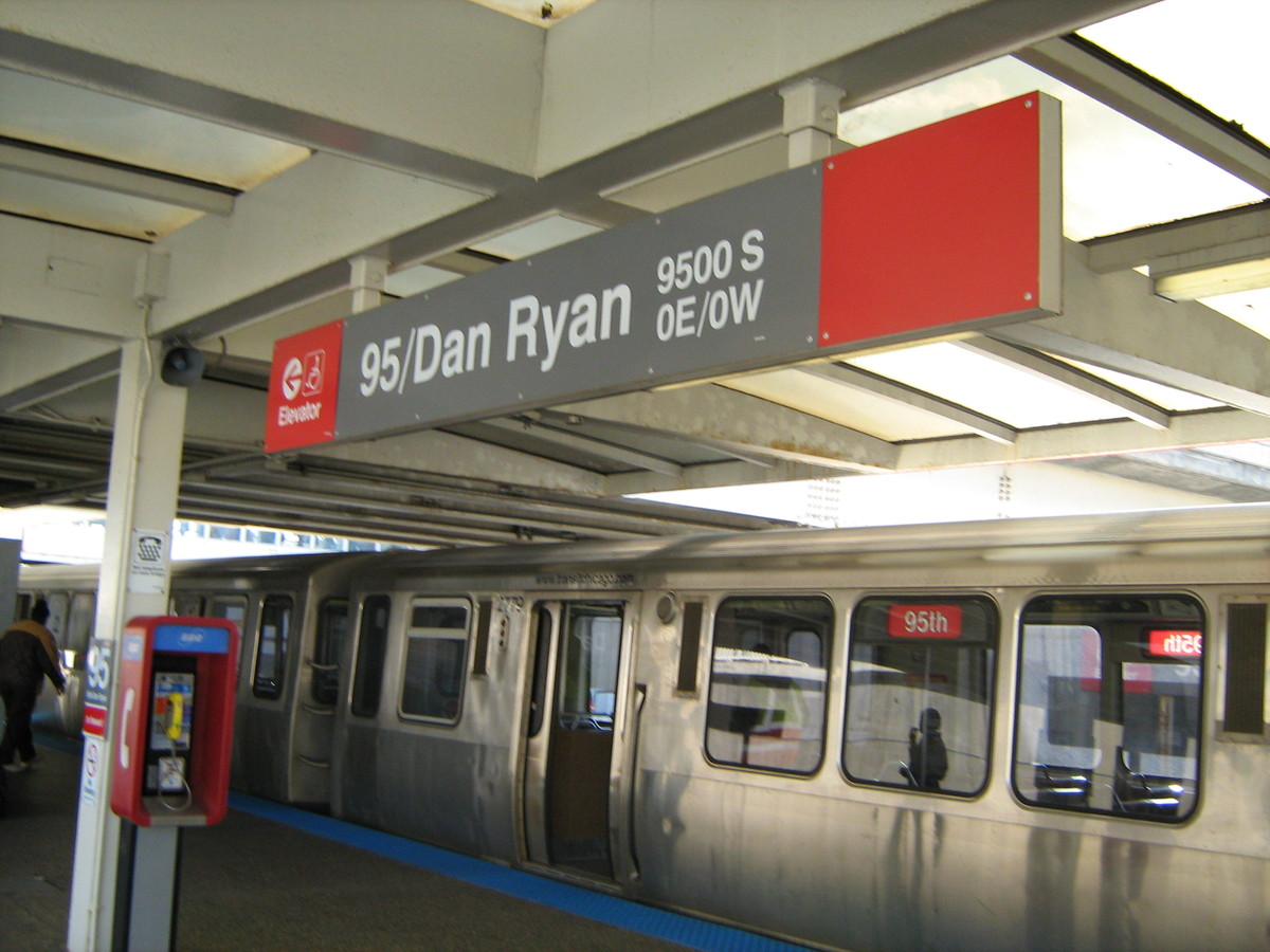 The CTA will close all stations and suspend service between the 95th/Dan Ryan stop and the Cermak/Chinatown stop beginning Ma