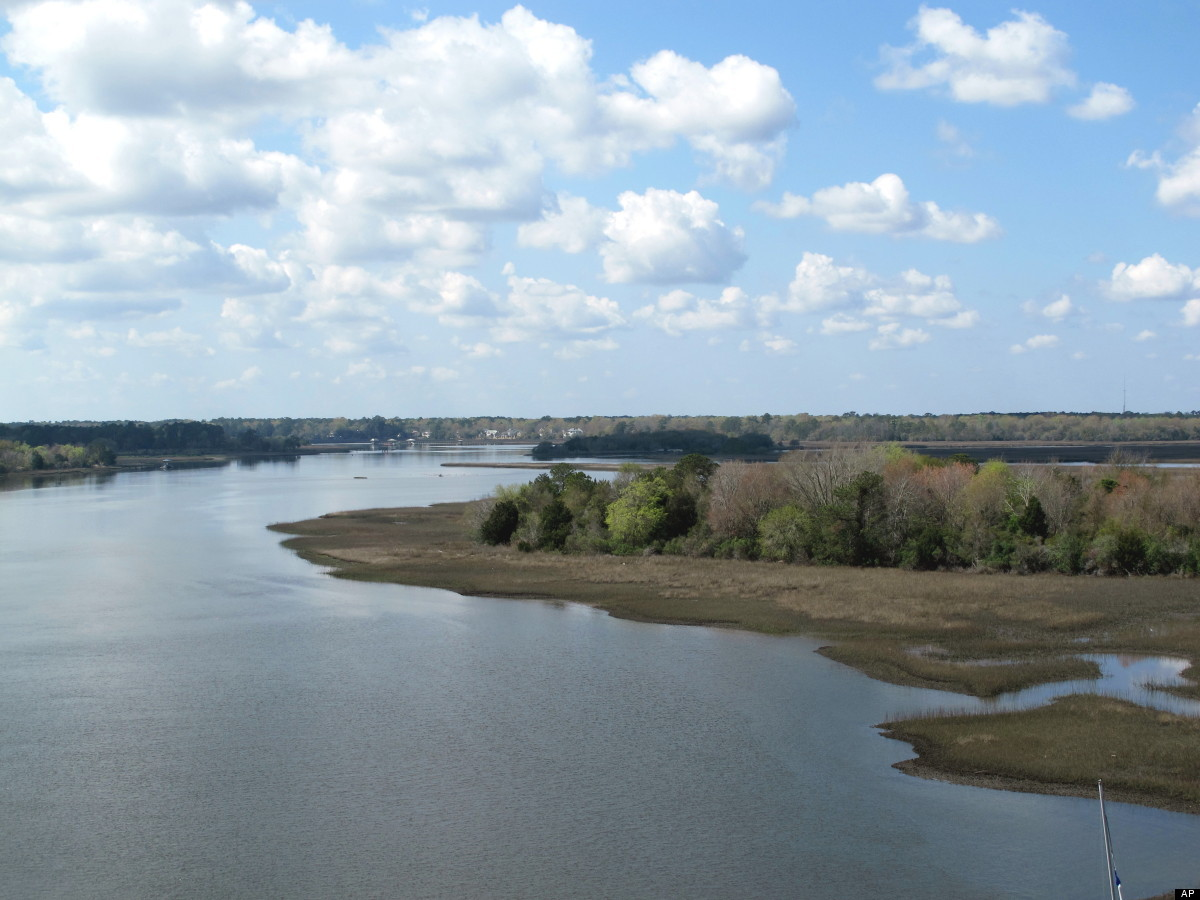 In this March 14, 2012 photo, the Stono River flows west of Charleston, S.C. Just upstream is the area where the Stono Rebell