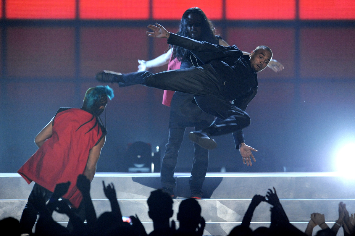 Chris Brown performs at the Billboard Music Awards at the MGM Grand Garden Arena on Sunday, May 19, 2013 in Las Vegas. (Photo