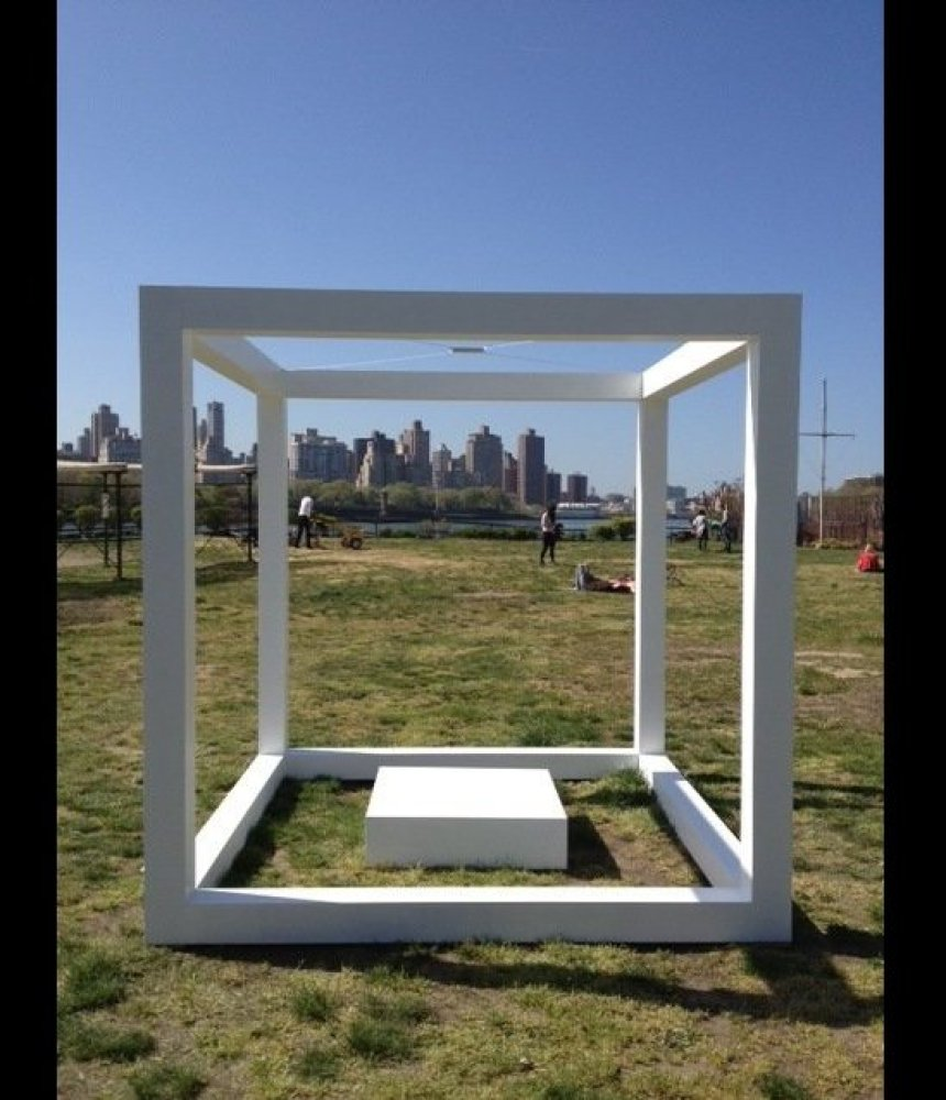 "Kat Kohl, a young and talented artist from New York City interpreted Ilya Kabakov's ""The White Cube"". Her interpretation, pic"