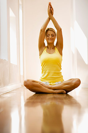 """Yet another reason to say """"namaste"""": A small 2010 study found that regular yoga practice may reduce inflammation in the body."""