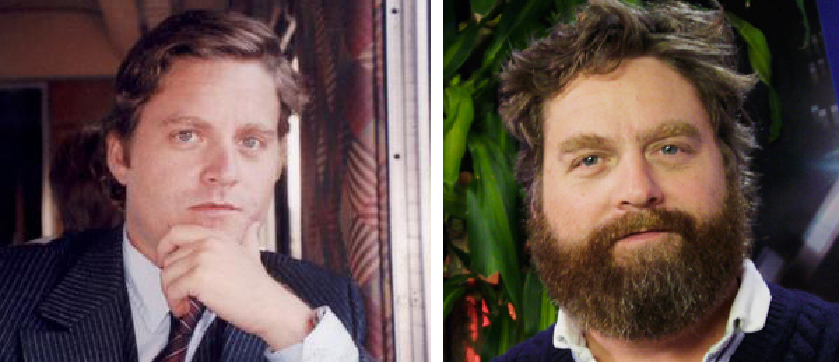 """Without the famous beard, looking much more like his twin brother Seth. (Via <a href=""""http://www.reddit.com/r/pics/comments/q"""