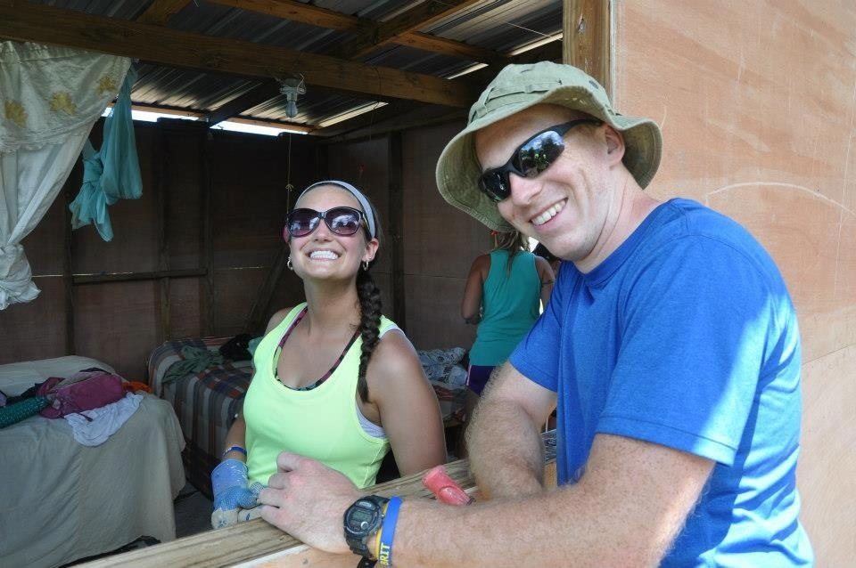 """My fiancé and I volunteer with the <a href=""http://belikebrit.org/"" target=""_blank"">Be Like Brit</a> organization in Haiti!"