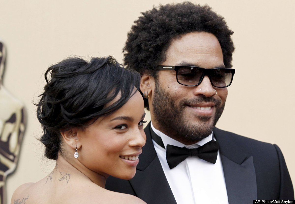 "Rocker Lenny Kravitz has clearly made an impression on daughter Zoe: the 23-year-old dabbles in <a href=""http://www.huffingto"