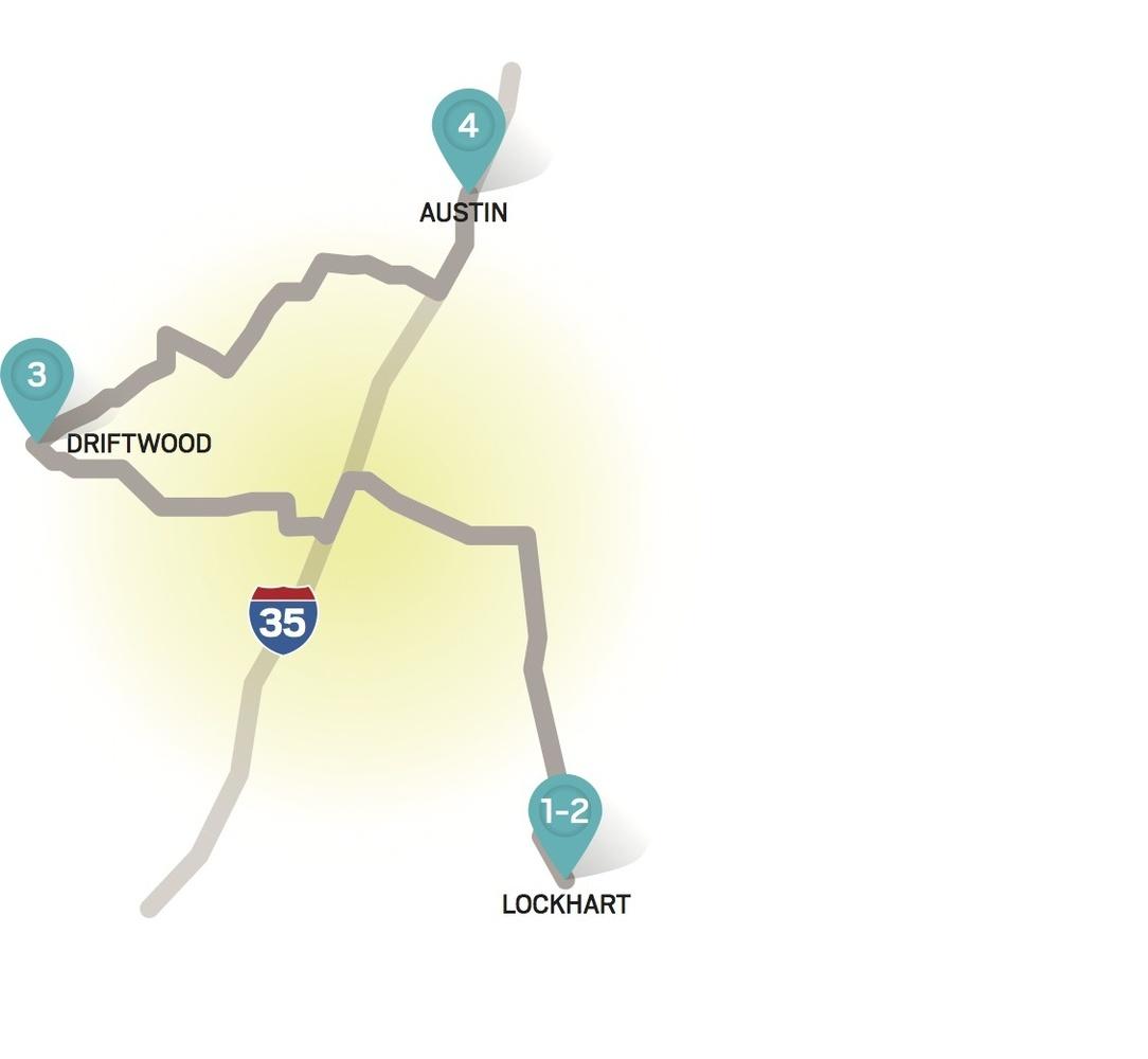 1. Kreuz Market - Lockhart, TX 2. Smitty's Market - Lockhart, TX 3. The Salt Lick - Driftwood, TX 4. Frankling Barbecue - Aus