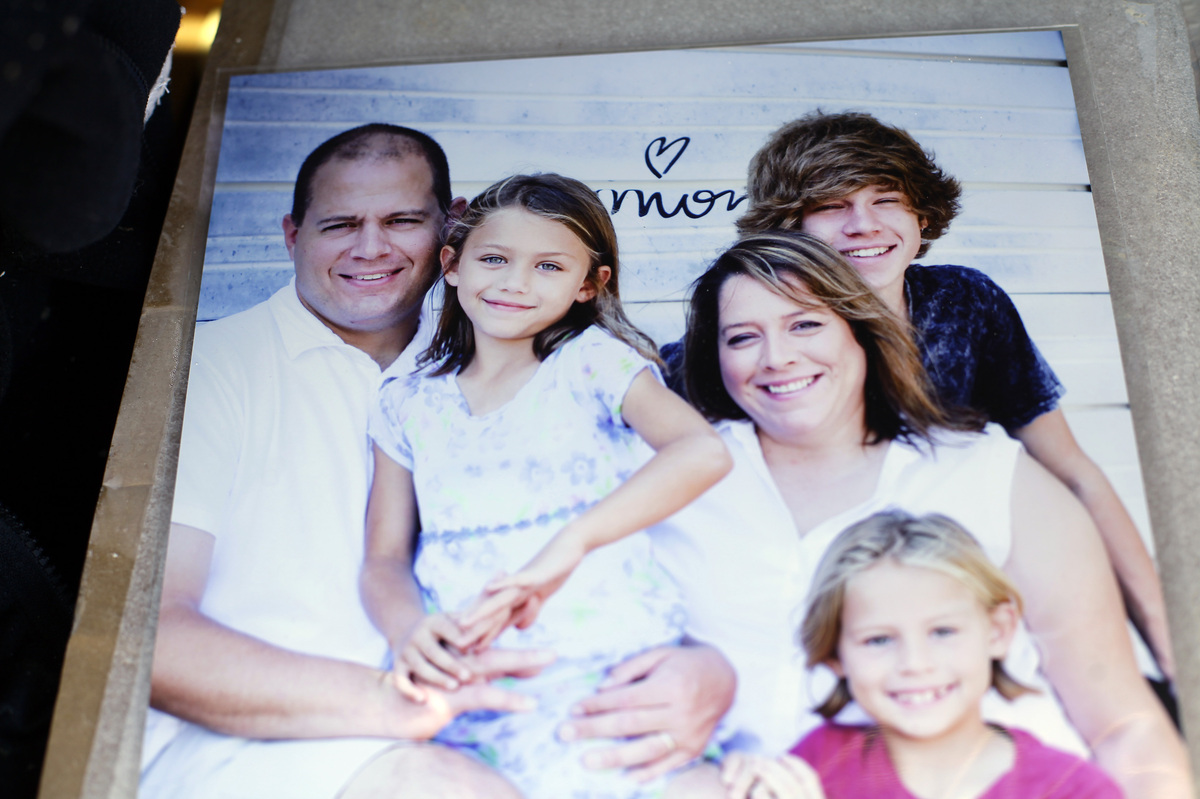A family photo showing Daniel Angle from left, Sydney Angle, Nicole Angle, Jory Pratt and Casey Angle is seen on May 22, 2013