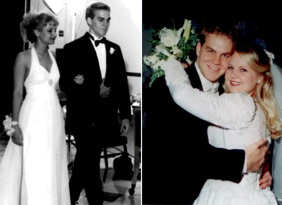"@ronabelle77: ""Old school photo from 1995, wedding photo from 2001"""