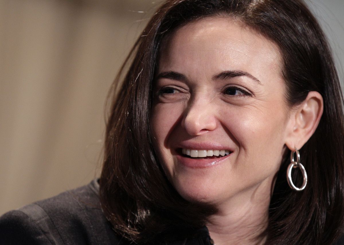 The influential Facebook COO and <em>Lean In</em> author moved up four spots on the list from her position at number ten last