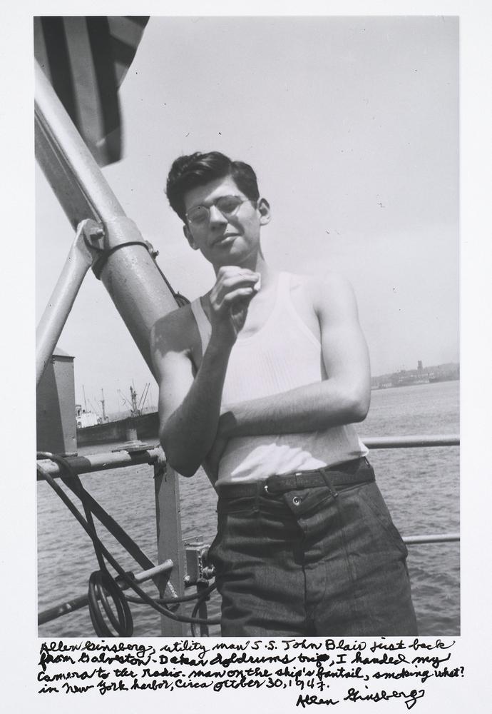 Allen Ginsberg, utility man S.S. John Blair just back from Galveston-Dakar doldrums trip...,1947.