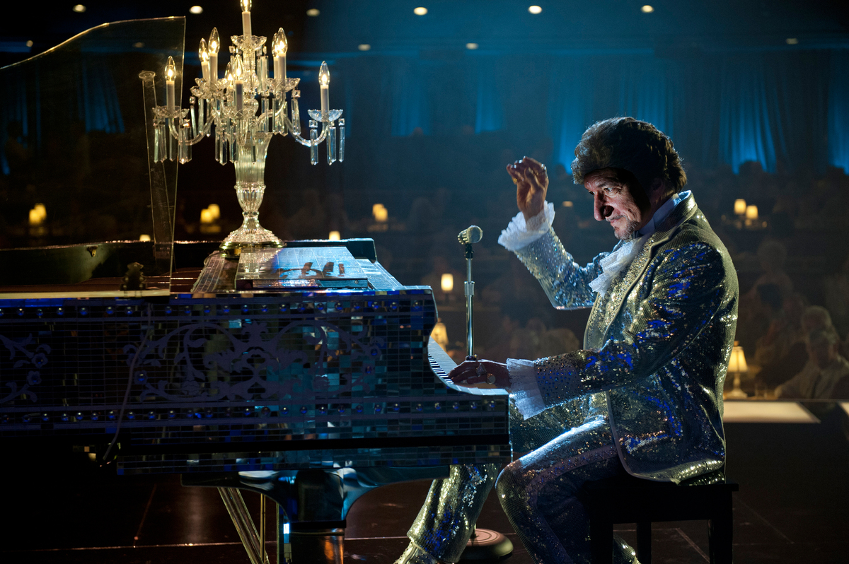 Sir Ben Kingsley is a masterful chameleon with a flair for the dramatic and impeccable cheekbones, two things Liberace himsel