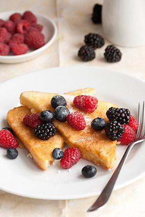 "Sure, you can get crazy with pain perdu, topping it with <a href=""http://www.oprah.com/food/Cristina-Ferrares-Cinnamon-French"