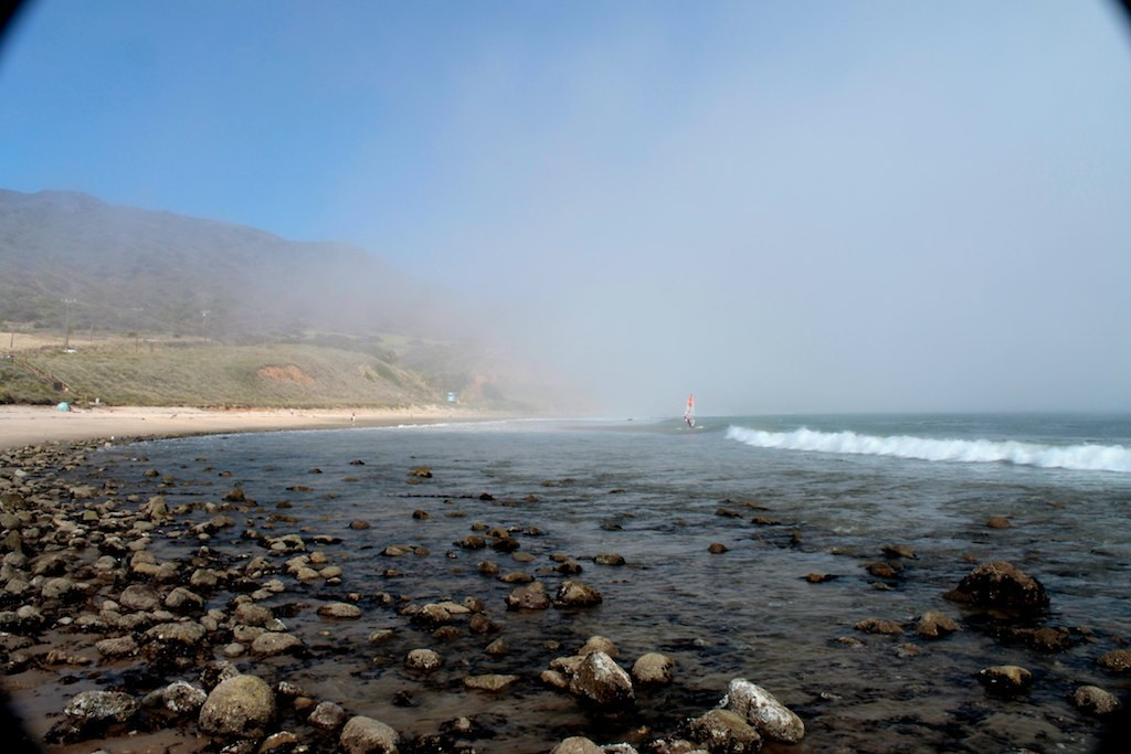 Leo Carillo Beach at Arroyo Sequit Creek mouth