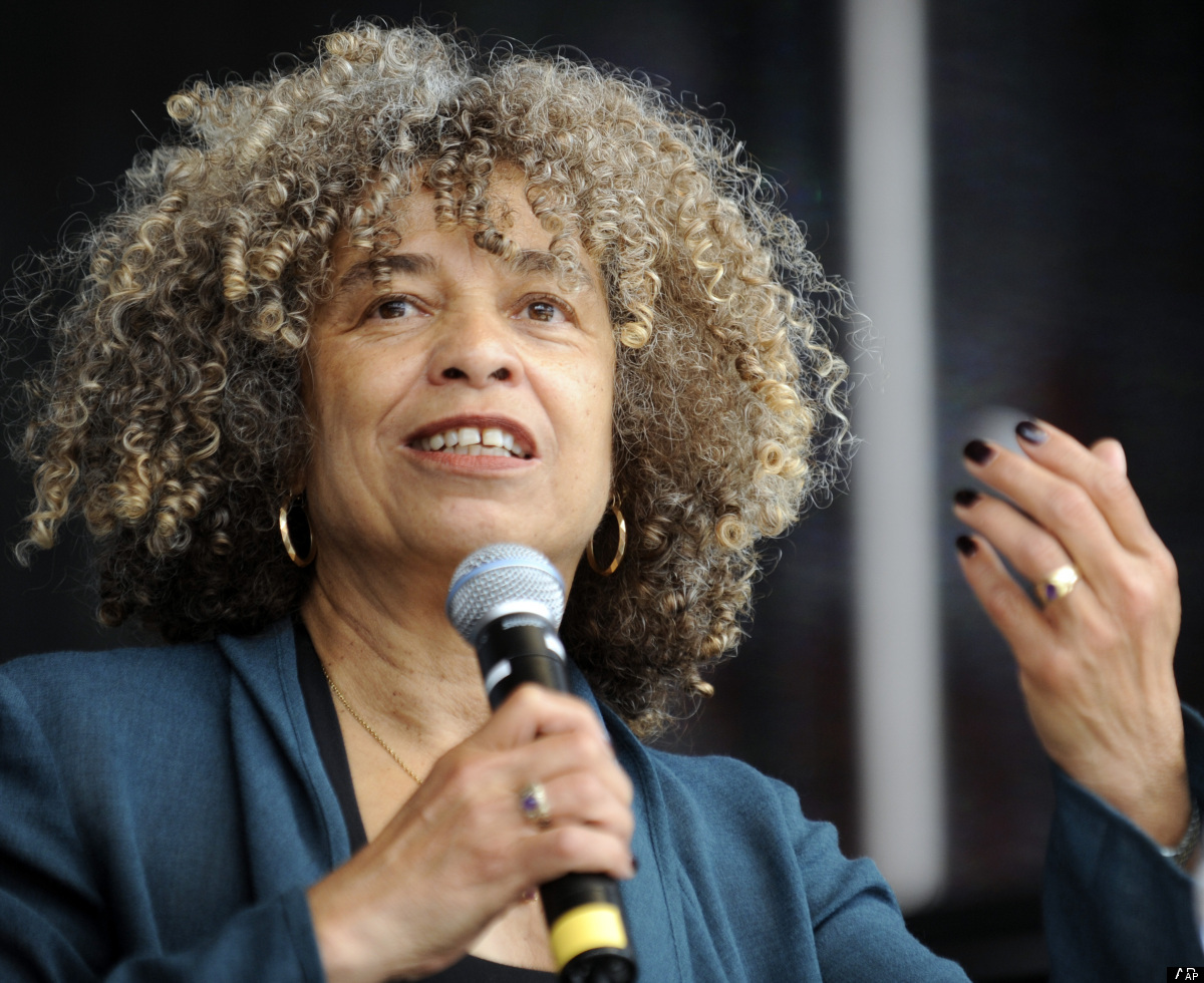 U.S. civil rights activist Angela Davis speaks to supporters of the leftist party 'Die Linke'  in  Berlin, Germany on Saturda