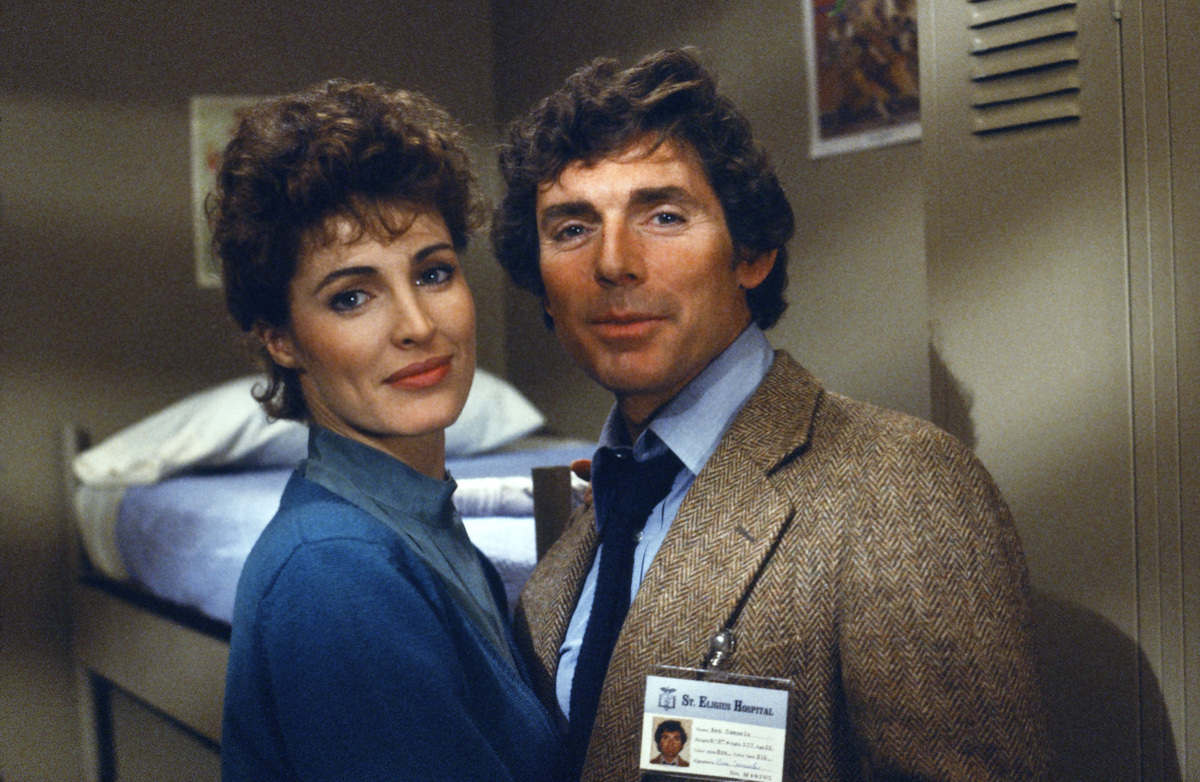 ST. ELSEWHERE -- 'Brothers' Episode 17 -- Pictured: (l-r) Cynthia Sikes as Doctor Annie Cavanero, David Birney as Doctor Ben