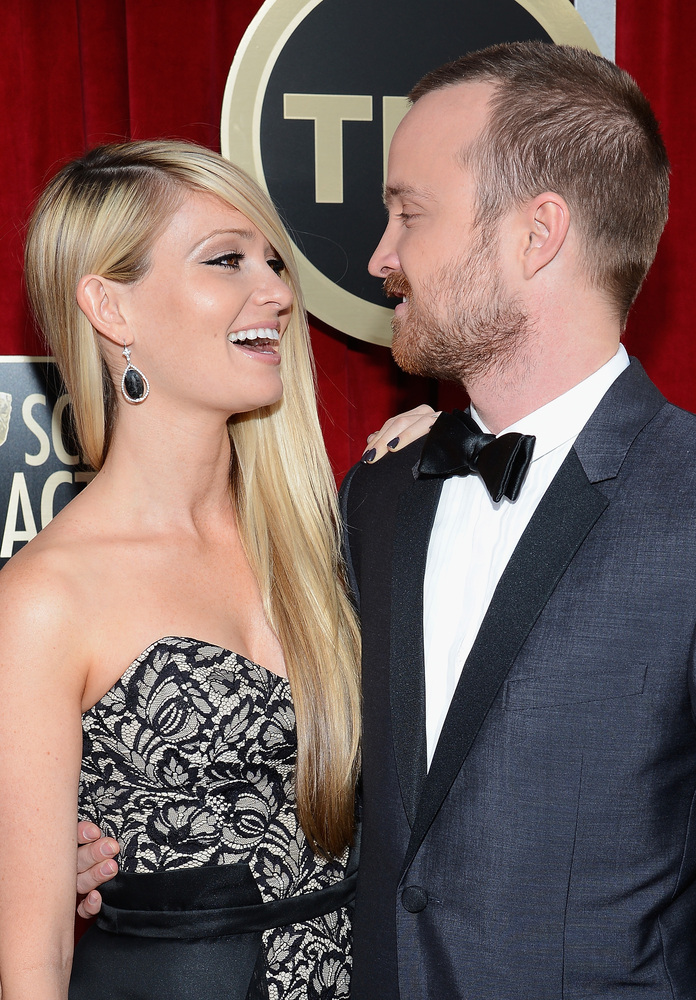 At the Emmys in September 2012, Aaron Paul snagged the award for Best Supporting Actor in a Drama Series. In his speech, he <