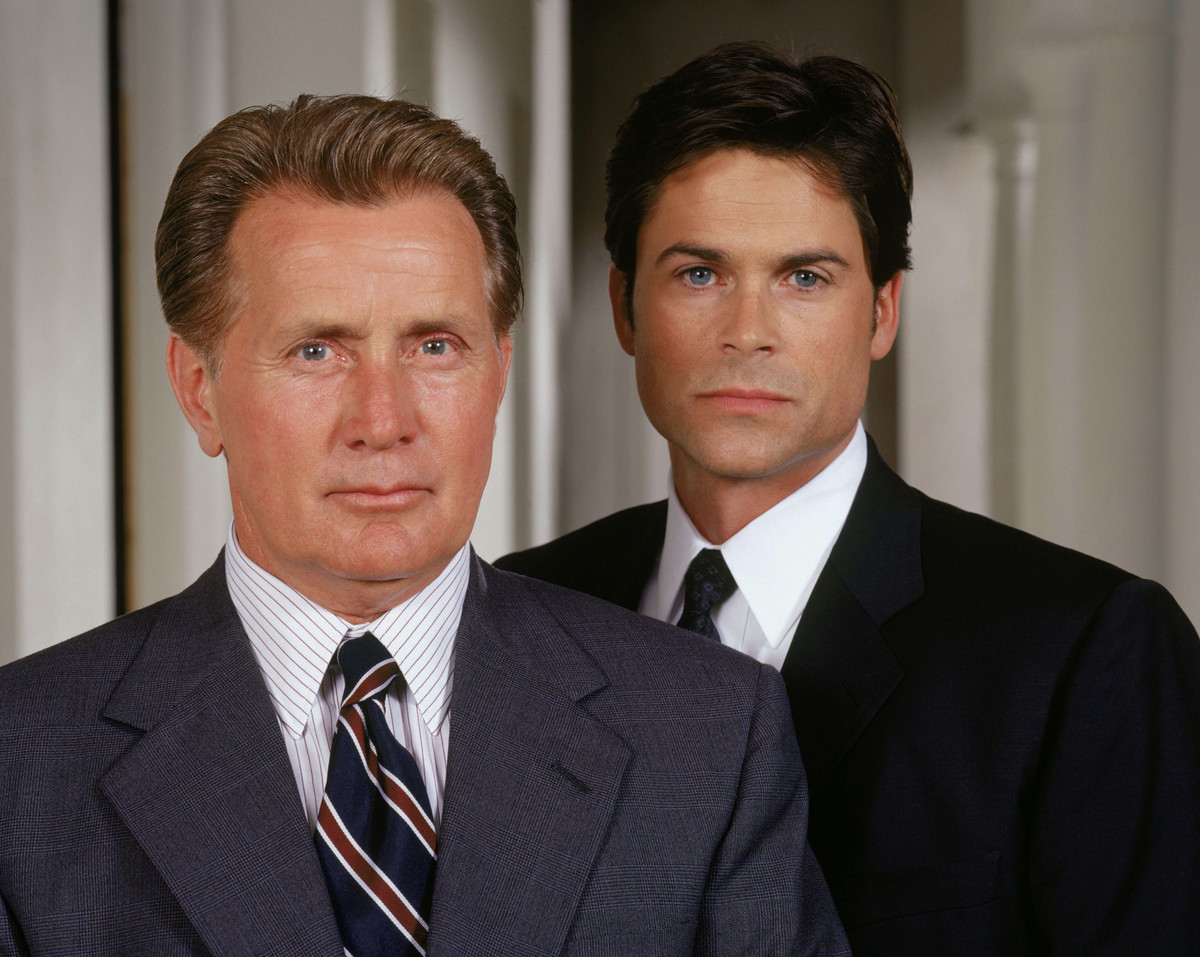 "Rob Lowe as Deputy Communications Director Sam Seaborn in NBC's ""The West Wing."""