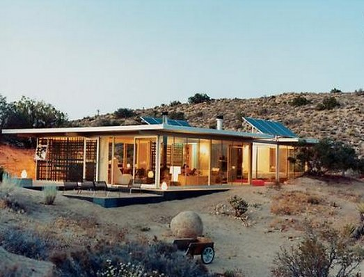 Get off the grid in the desert at the itHouse in Pioneertown.