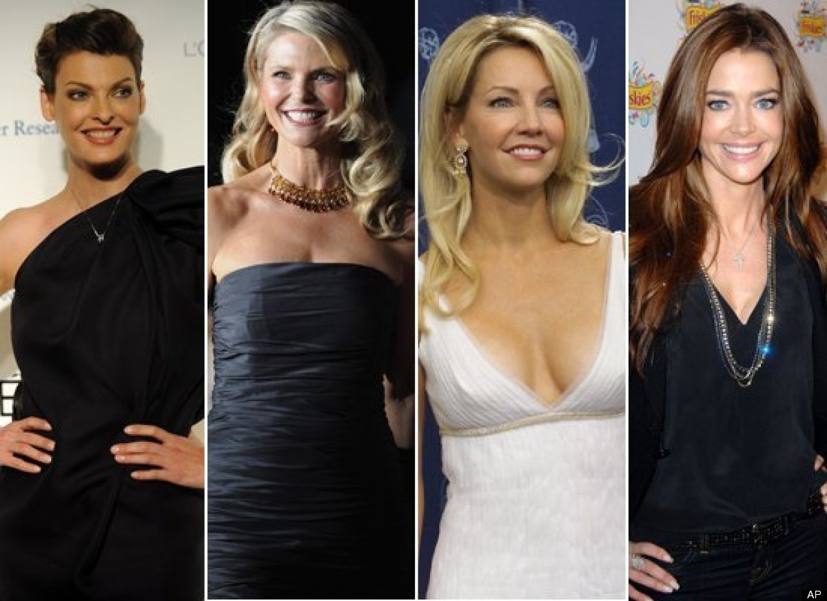 <strong>a) Linda Evangelista b) Christie Brinkley  c) Heather Locklear  d) Denise Richards</strong>