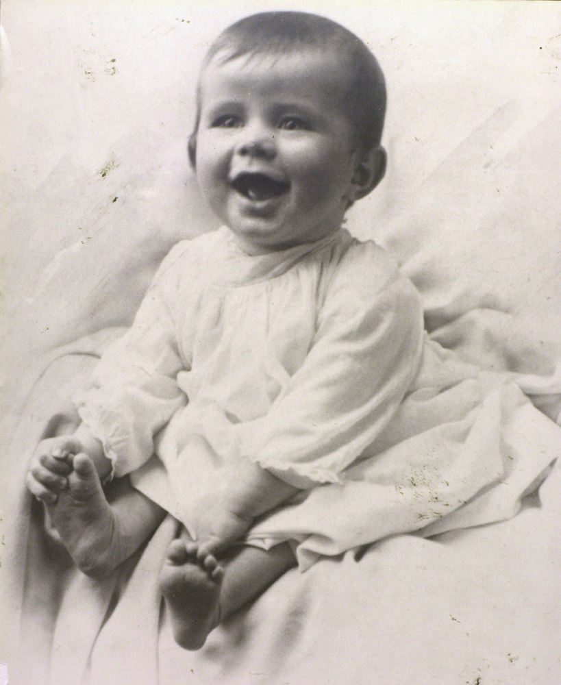 John F. Kennedy is shown at six-months-old in Brookline, Mass., in 1917. (AP Photo/John F. Kennedy National Historic Site)