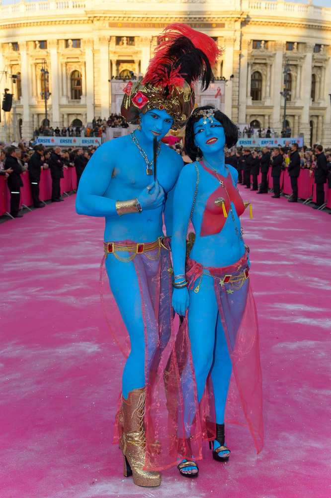 Guests arrive for the Arabian Nights themed Life Ball.