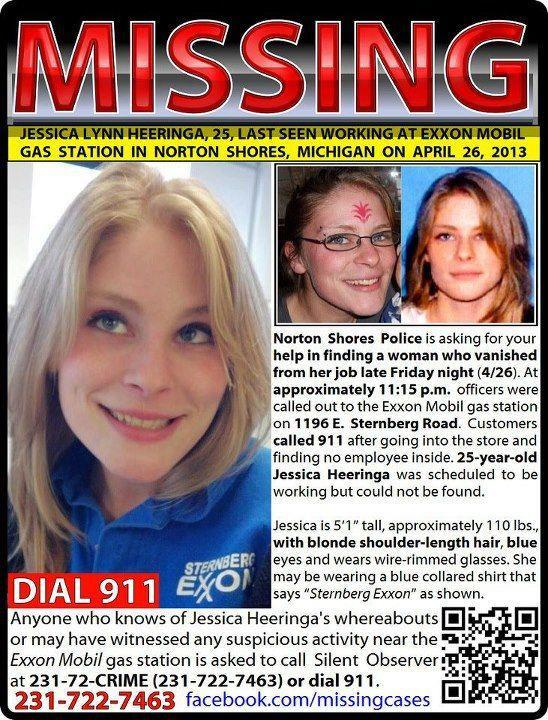 Jessica Heeringa, 25, was abducted from a Michigan gas station on April 26, 2013.