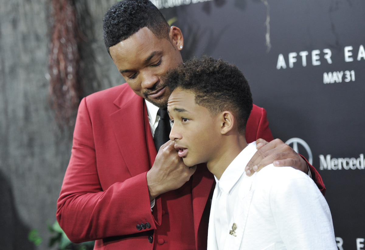 After earth reviews 9 scathing responses to will smiths sci fi actors will smith left and jaden smith attend the after earth premiere voltagebd Gallery