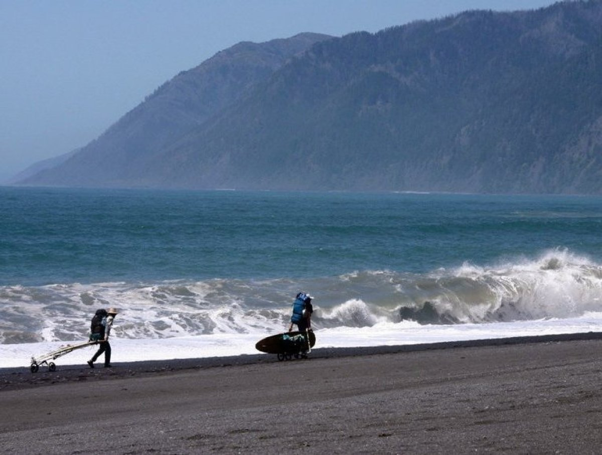 BLACK SANDS BEACH Shelter Cove, California  Shelter Cove's aptly named beach is the longest stretch of undeveloped beach i