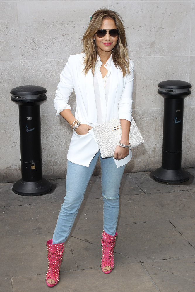 Jennifer Lopez seen at BBC Radio One on May 30, 2013 in London, England. (Photo by Neil P. Mockford/FilmMagic