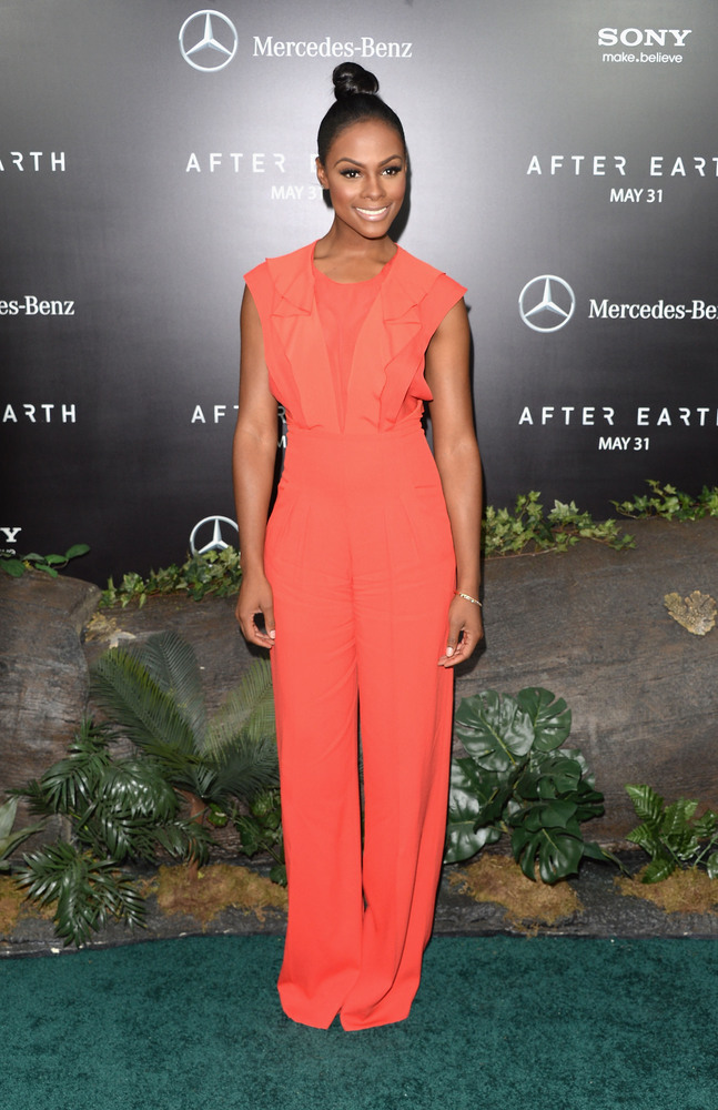 NEW YORK, NY - MAY 29:  Tika Sumpter attends the 'After Earth' premiere at the Ziegfeld Theater on May 29, 2013 in New York C