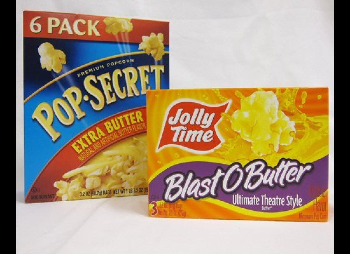 Microwave popcorn is one category where partially hydrogenated oil is still a big problem.  Pop Secret's Extra Butter popcorn