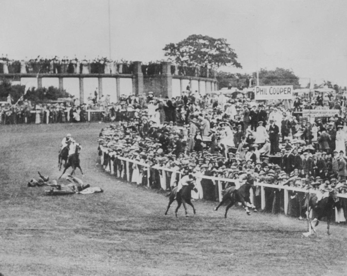 On June 4, 1913, Emily Davison stepped in front of King George V's horse, Anmer, running in the Epsom Derby, suffering seriou