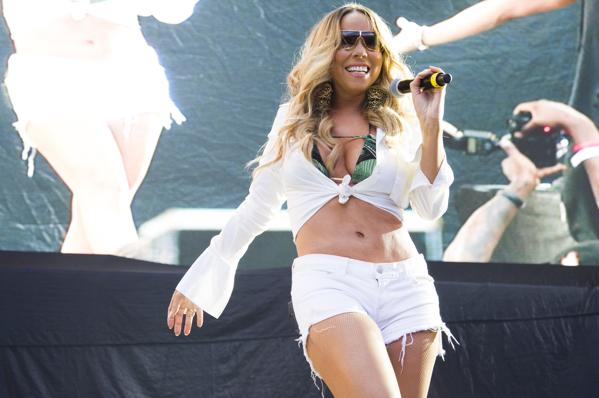 Mariah Carey performs at the Hot 97 Summer Jam XX on Sunday, June 2, 2013 in East Rutherford, N.J. (Photo by Charles Sykes/In